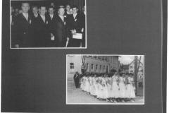 Liederkranz 1956 Jubiläum (Festumzug Dorfplatz)