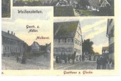 Postkarte (u.a. Gasthaus Glocke, Ulmer Straße 51, 1899 versandt)