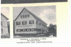 Postkarte (u.a. Gasthaus Adler, Dorfplatz 7, ca. )