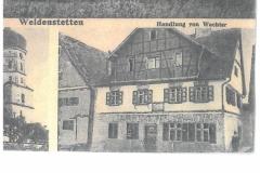 Postkarte (u.a. Geislinger Straße 1, 1928 versandt)
