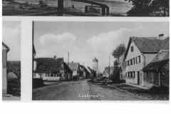 Postkarte (verschickt 1942, u.a. Dorfplatz 5)